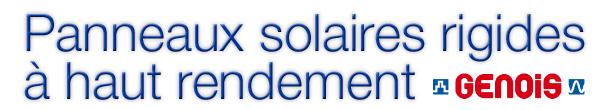 Panneaux solaires rigides à haut rendement
