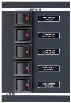 5-Way DC Circuit Breaker Panel | KENT Marine Equipment