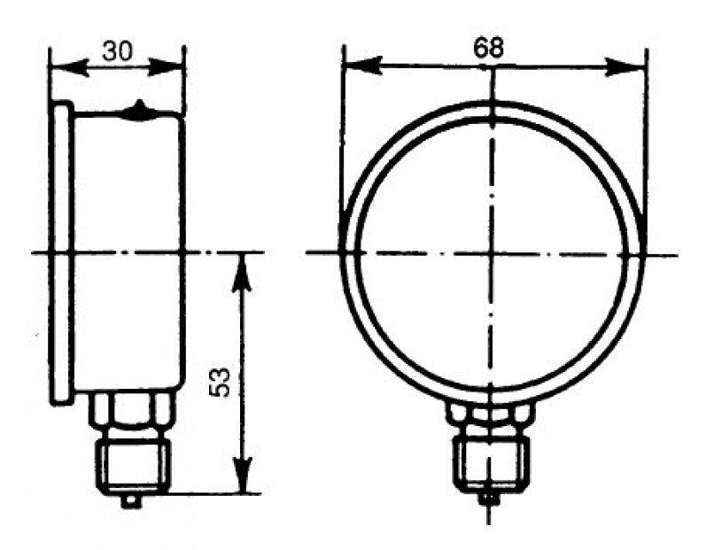 liquid filled pressure gauge - 0-60 bars