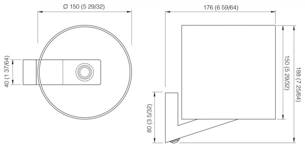 Halogen Wall Shade - Sheila Linen - 12/24V 20W | KENT Marine