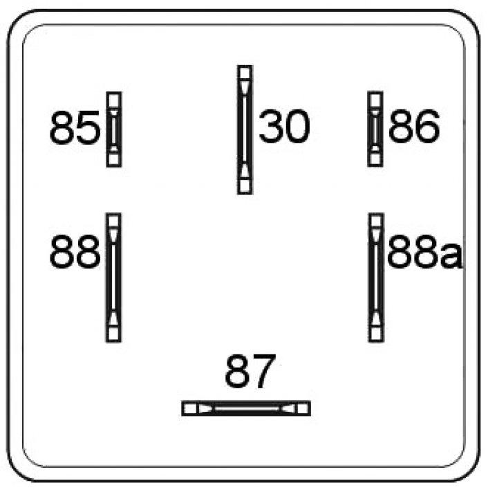 mini relais bipolaire double 9 bornes 12v  20a