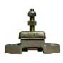 Shear loaded mounting with oil shield 36/105kg (Hole distance 127mm)