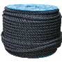 Rope - 3-strand Twisted Polyester - 20 mm Black