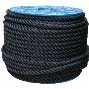 Rope - 3-strand Twisted Polyester - 8 mm Black